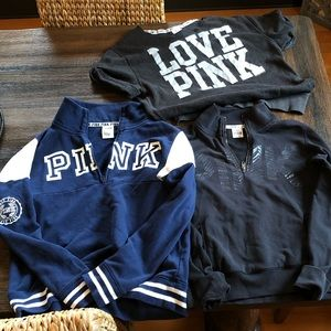 Bundle of Victoria Secret PINK sweaters size small